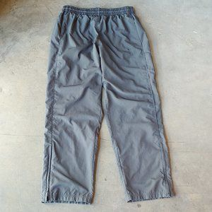 Nike Men's Gray Ankle Zip Lined Sweatpants large